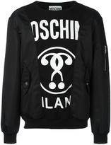 Moschino bomber patchwork sweatshirt