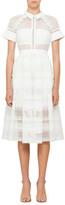 Self-Portrait Raglan Detail Midi Dress White