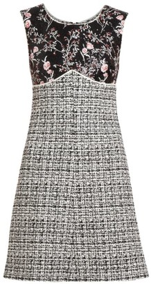 Giambattista Valli Embroidered Floral & Tweed Sheath Dress
