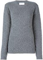 Christian Wijnants patterned knit sweater