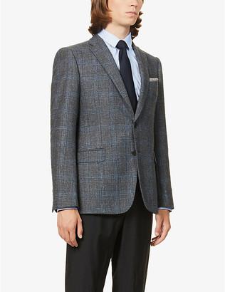 Emporio Armani M-line checked single-breasted woven blazer