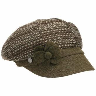 Lierys Dibona Wool Newsboy Cap by Women - Made in Italy Flat hat Womens Peaked caps with Peak