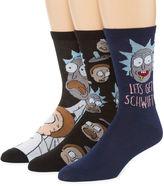 Asstd National Brand 3 Pair Crew Socks-Mens
