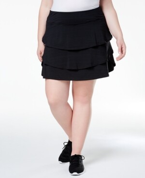 Ideology Plus Size Ruffled Skort, Created for Macy's
