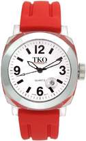 "TKO ORLOGI Unisex TK508-WR ""Milano"" Watch with Red Rubber Band"