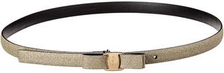 Salvatore Ferragamo Vara Glitter Leather Belt