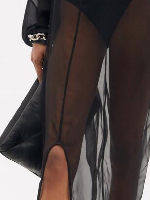 Rick Owens Eclipse Train-hem Silk-chiffon Maxi Dress - Black