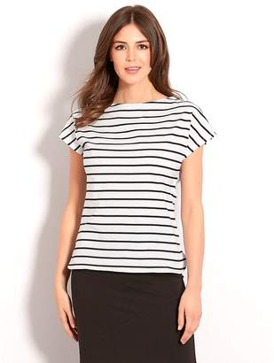 M&Co Stripe boat neck top