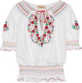 Muzungu Sisters - Dora Embroidered Cotton-poplin Blouse - White