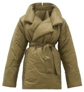 Norma Kamali Sleeping Bag Reversible Coat - Womens - Khaki