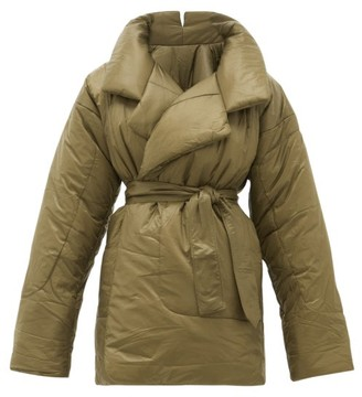 Norma Kamali Sleeping Bag Reversible Coat - Womens - Khaki