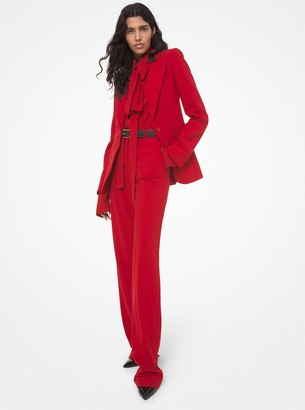 Michael Kors Collection Kate Wool Serge Cuffed Trouser