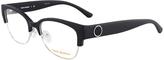 Tory Burch Matte Black & Silver Eyeglasses