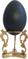 One Kings Lane Vintage Natural Emu Egg w/ Brass Stand