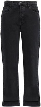 J Brand Asymmetric High-rise Straight-leg Jeans
