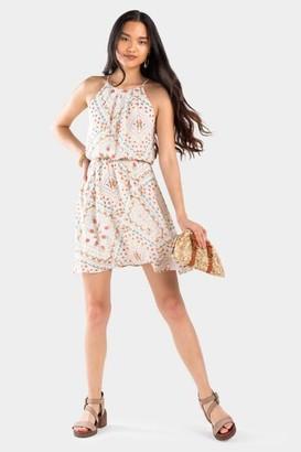 francesca's Kora Mixed Print Flawless Dress - Multi