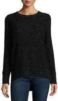Rag & Bone Tamara Melange Cashmere Sweater, Black