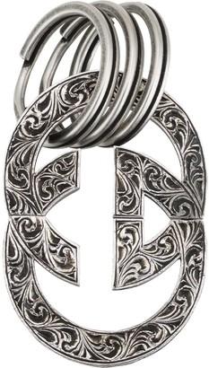 Gucci Engraved Interlocking G keychain