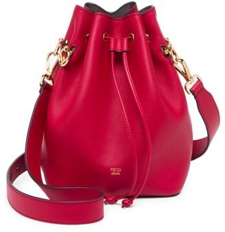 Fendi Mon Tresor Leather Bucket Bag