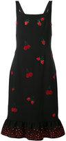 Altuzarra sequinned berry dress - women - Polyester/Acetate/Triacetate/polyester-8 - 40