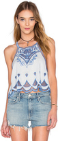 Somedays Lovin Azul Cutwork Top