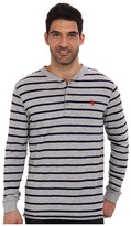 U.S. Polo Assn. Slim Fit Long Sleeve Slub Henley w/ Stripes
