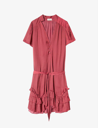 Zadig & Voltaire Rink ruffle-trimmed satin dress