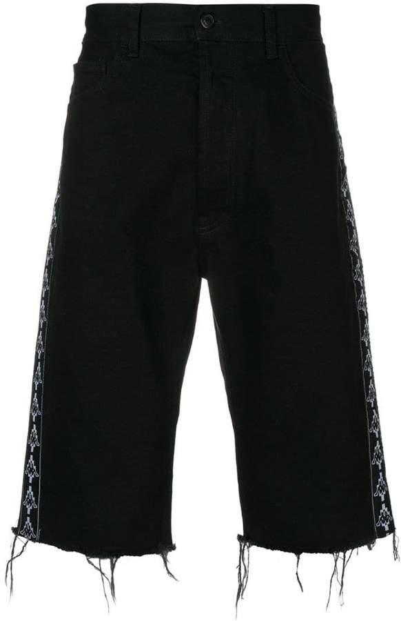 Marcelo Burlon County of Milan x Kappa denim shorts