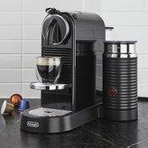 Crate & Barrel Nespresso ® by Delonghi Citiz Black Espresso Machine with Milk Frother