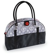 2 Red Hens Coop Carry-All Diaper Bag, Grey Damask by