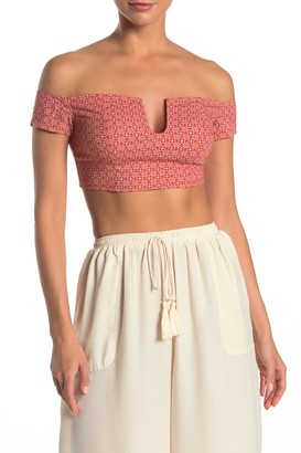 Free People Lucky Now Brami Off-the-Shoulder Crop Top