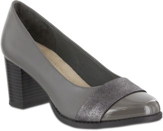 Mia Amore Slip-On Block Heel Pumps - Ivaa