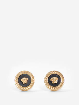 Versace GOLD CIRCLE MEDUSA EARRINGS