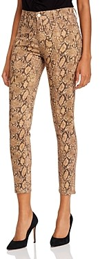 Frame Le High Crop Skinny Jeans in Coated Python