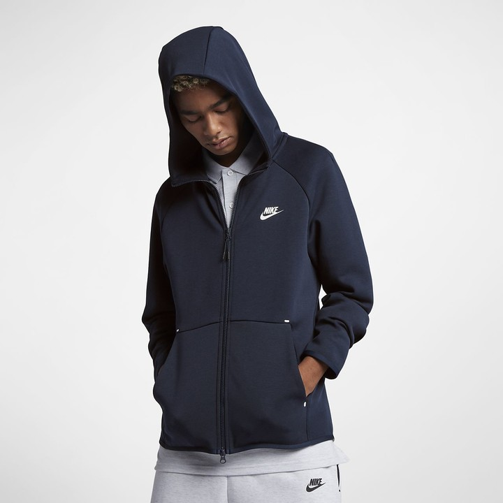 Nike Cross Brand Men's Full-Zip Hoodie Sportswear Tech Fleece