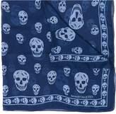 Alexander McQueen sheer skull print scarf