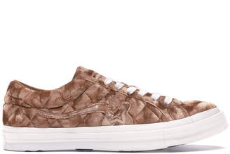 Converse One Star Ox Golf Le Fleur TTC Quilted Velvet Brown Sugar
