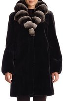 Gorski Chinchilla-Collar Belted Mink Stroller Coat