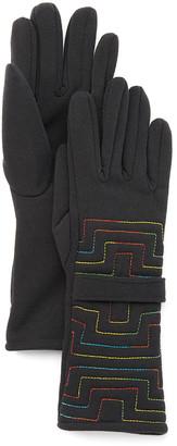 Jeanne Simmons Accessories Women's Casual Gloves Black - Black Geometric Tab Gloves