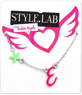 Fashion Angels Pink & Silvertone 'E' Initial Pendant Necklace