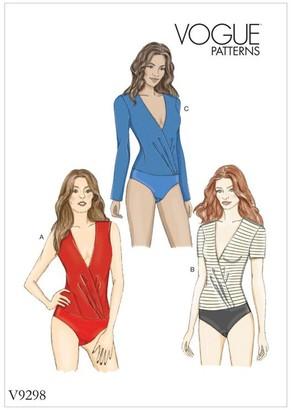 Vogue Women's Bodysuit Sewing Pattern, 9298