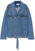 Facetasm Oversized Deconstructed Denim Jacket - Mid denim