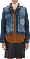 Simon Miller Women's Harelton Destroyed Denim Jacket-BLUE