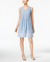 Style&Co. Style & Co Petite Cotton Eyelet-Hem Fit & Flare Dress, Only at Macy's