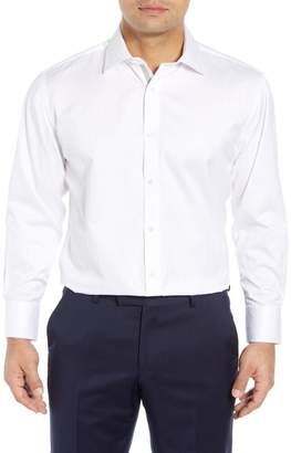 English Laundry Regular Fit Herringbone Dress Shirt