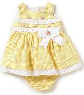 Rare Editions Baby Girls 3-24 Months Checked Seersucker Dress
