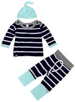 TONSEE 1Set Baby Boys Outfit Clothes, Stripe Long Sleeve T-Shirt Tops+Long Pants+Hat (12Months)