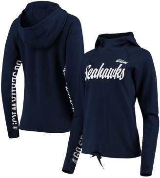 Women's Hands High College Navy Seattle Seahawks Sideline Pullover Hoodie