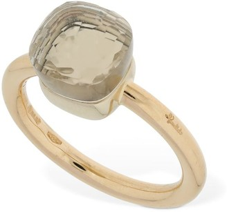 Pomellato Nudo 18kt Gold Thin Ring W/ White Topaz