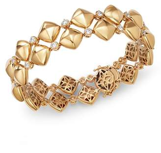 Bloomingdale's Diamond & Puff Pyramid Bracelet in 18K Yellow Gold, 2.0 ct. t.w. - 100% Exclusive